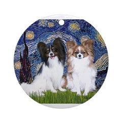 STARRY-PapiPAIR-Tri FawnPixie.png Ornament (Round)
