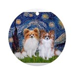 STARRY-PapiPAIR-both.png Ornament (Round)