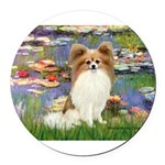 MP-LILIES2-Papi-Fawn1.png Round Car Magnet