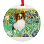 3-MP-IRISES-Papi5-fawn.png Round Ornament