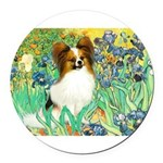 3-MP-IRISES-Papi5-fawn.png Round Car Magnet