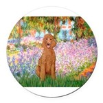 MP-GARDEN-Poodle-ST-Apricot1.png Round Car Magnet