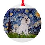 5.5x7.5-Starry-STPood--White-C.PNG Round Ornament