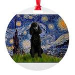 5.5x7.5-Starry-Pood-Blk-Paris.PNG Round Ornament