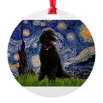5.5x7.5-Starry-Pood-ST-Blk-Tkr.PNG Round Ornament