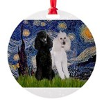 3-5.5x7.5-Starry-Pood-ST-PAIR.PNG Round Ornament