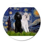 3-5.5x7.5-Starry-Pood-ST-PAIR.PNG Round Car Magnet