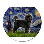STARRY-PWD2-blkstand-retrvr.png Round Car Magnet