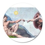 MP-CREATION-PugLcy.png Round Car Magnet