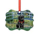 MP-BRIDGE-Pug-Blk14-RedC.png Picture Ornament
