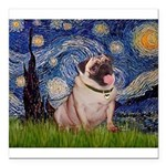 MP-STARRY-Pug2-fawn.png Square Car Magnet 3