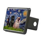 5x7-Starry-PugPair.png Rectangular Hitch Cover