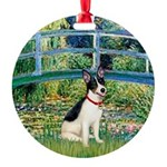 Rat Terrier - Bridge.png Round Ornament