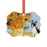 Rat Terrier - Sunflowers.png Picture Ornament