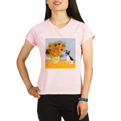 Rat Terrier - Sunflowers.png Performance Dry T-Shi