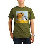 Rat Terrier - Sunflowers.png Organic Men's T-Shirt