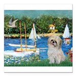 5.5x7.5-Sailboats-ShihPad.png Square Car Magnet 3