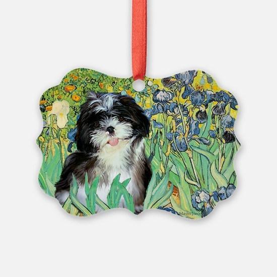 Irises - Shih Tzu 12.png Ornament