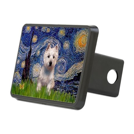 Starry - Westie (P) Rectangular Hitch Cover