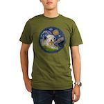 WE-Starry-Wheaten1.png Organic Men's T-Shirt (dark