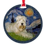 WE-Starry-Wheaten1.png Round Ornament