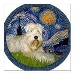 WE-Starry-Wheaten1.png Square Car Magnet 3