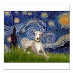 5.5x7.5-Starry-Whippet2.png Square Car Magnet 3