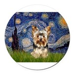 5.5x7.5-Starry-York17.png Round Car Magnet