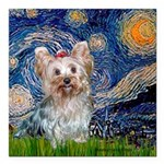 MP-STARRY-Yorkie-Tess.png Square Car Magnet 3