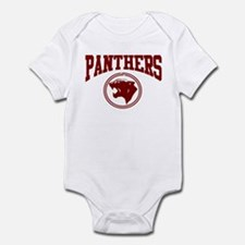Panther Circle Head DK RED Infant Bodysuit