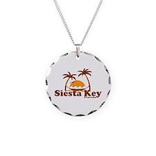 Siesta Key - Palm Trees Design. Necklace