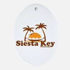 Siesta Key - Palm Trees Design. Ornament (Oval)