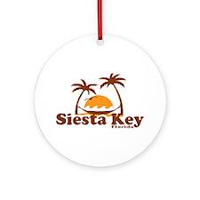 Siesta Key - Palm Trees Design. Ornament (Round)