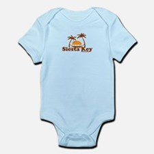 Siesta Key - Palm Trees Design. Infant Bodysuit
