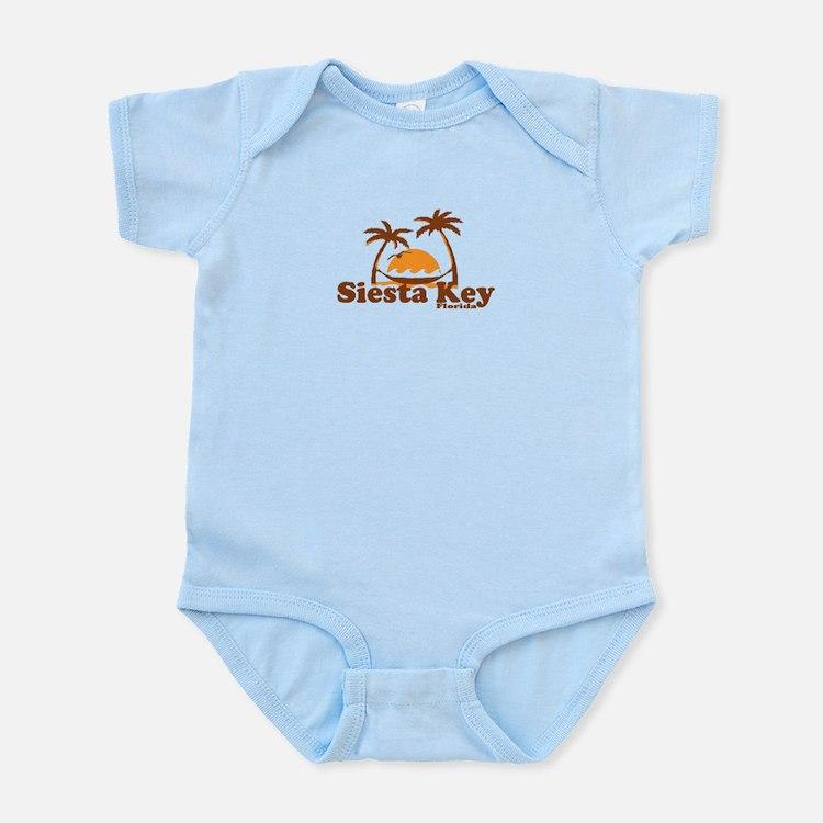 Siesta Key - Palm Trees Design. Infant Bodysuit