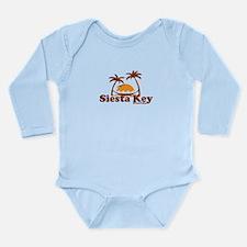 Siesta Key - Palm Trees Design. Long Sleeve Infant