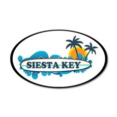 Siesta Key - Surf Design. Wall Decal