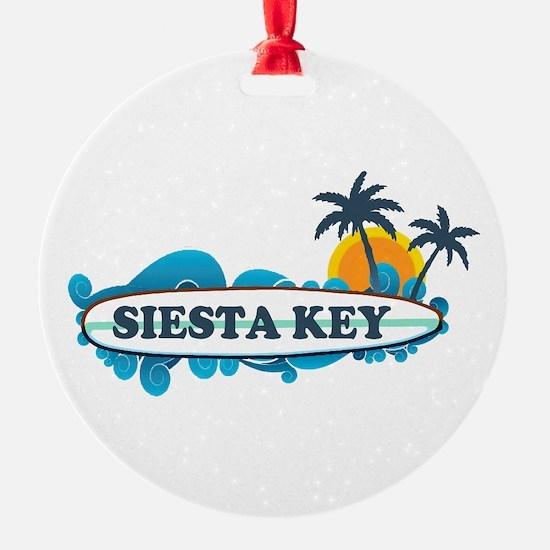 Siesta Key - Surf Design. Ornament