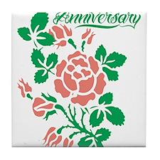 Happy Anniversary Tile Coaster