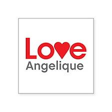 I Love Angelique Sticker