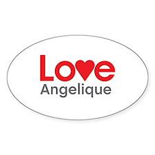 I Love Angelique Decal