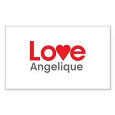 I Love Angelique Decal