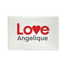 I Love Angelique Rectangle Magnet (100 pack)