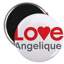 """I Love Angelique 2.25"""" Magnet (10 pack)"""