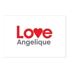 I Love Angelique Postcards (Package of 8)