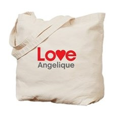 I Love Angelique Tote Bag