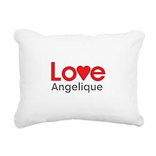 I Love Angelique Rectangular Canvas Pillow