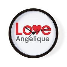 I Love Angelique Wall Clock
