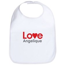 I Love Angelique Bib