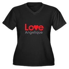 I Love Angelique Plus Size T-Shirt